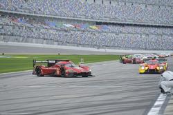 #55 Mazda Team Joest Mazda DPi, P: Jonathan Bomarito, Spencer Pigot, Harry Tincknell stranded on grid roll off
