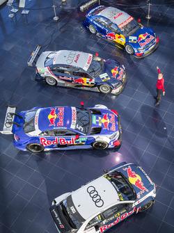 Mattias Ekström with the DTM cars and his EKS Audi S1 quattro WRX