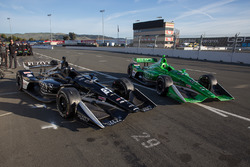 Autos von Jordan King, Ed Carpenter Racing Chevrolet, und Spencer Pigot, Ed Carpenter Racing Chevrolet