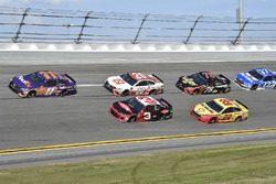 Denny Hamlin, Joe Gibbs Racing Toyota, Austin Dillon, Richard Childress Racing Chevrolet Camaro, Erik Jones, Joe Gibbs Racing Toyota, Joey Logano, Team Penske Ford Fusion, Martin Truex Jr., Furniture Row Racing Toyota, Ricky Stenhouse Jr., Roush Fenway Racing Ford Fusion