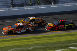 Daniel Suarez, Joe Gibbs Racing Toyota, Erik Jones, Joe Gibbs Racing Toyota, and Martin Truex Jr., Furniture Row Racing Toyota