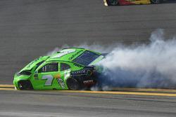 Danica Patrick, Premium Motorsports Chevrolet Camaro crashes