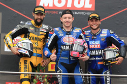 Podio: il vincitore della gara Lucas Mahias, GRT Yamaha Official WorldSSP Team, il secondo classificato Randy Krummenacher, BARDAHL Evan Bros. WorldSSP Team, il terzo classificato Sandro Cortese, Kallio Racing