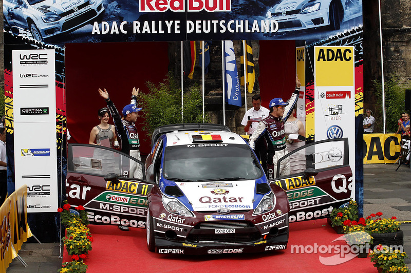 2e plaats Thierry Neuville, Nicolas Gilsoul, Ford Fiesta WRC #11 Qatar World Rally Team