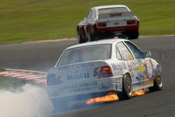 Kelvin Fletcher, Vauxhall Cavalier catches fire