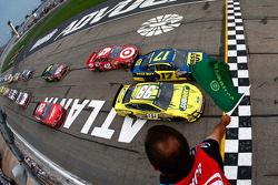 Start: Ricky Stenhouse Jr., Roush Fenway Racing Ford op kop
