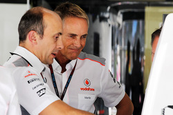 Phil Prew, McLaren Race Engineer with Martin Whitmarsh, McLaren Chief Executive Officer