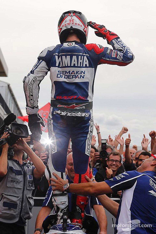 Race winner Jorge Lorenzo, Yamahaa Factory Racing