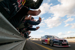 Jamie Whincup and Paul Dumbrell, Red Bull Holden take the win