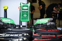 Caterham CT03 nosecone and Pirelli tyres