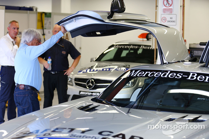 Bernie Ecclestone, CEO Formula One Group, with the FIA Safety Car