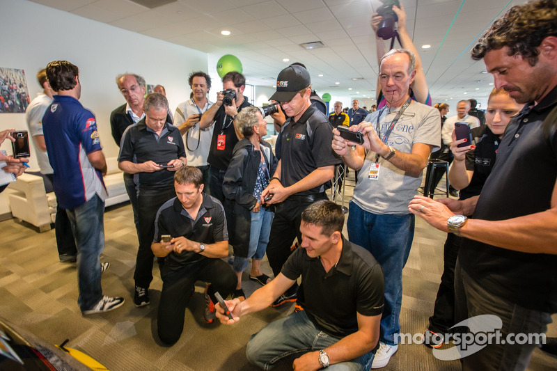 Amerikaanse coureurs bij het Le Mans-evenement