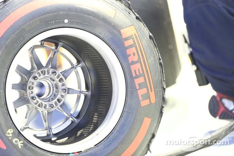 Een Pirelli-band gebruikt door Red Bull Racing