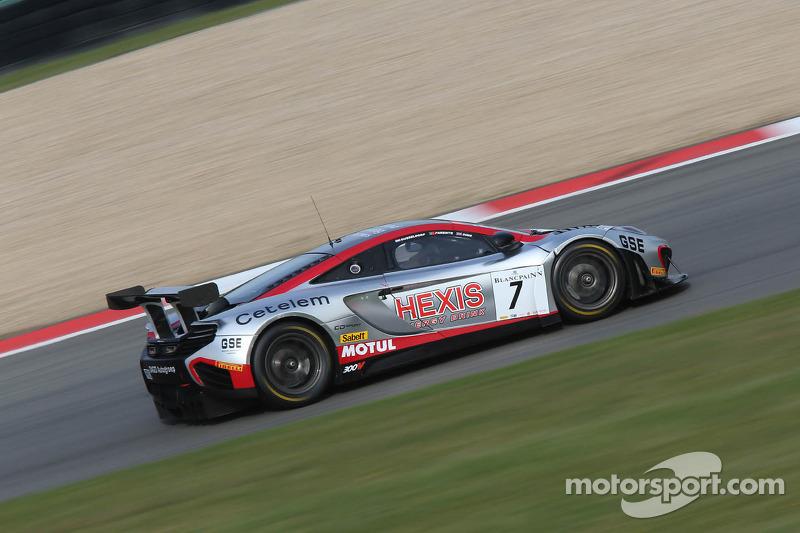 #7 Hexis Racing McLaren MP4-12C: Alvaro Parente, Alexander Sims, Stef Dusseldorp