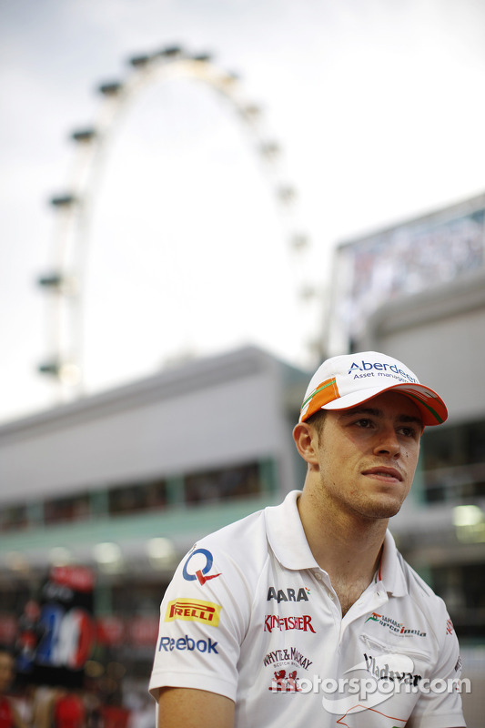 Paul di Resta, Sahara Force India F1 no desfile de pilotos