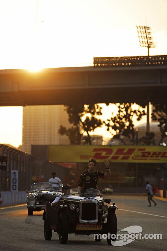 Romain Grosjean, Lotus F1 Team no desfile de pilotos