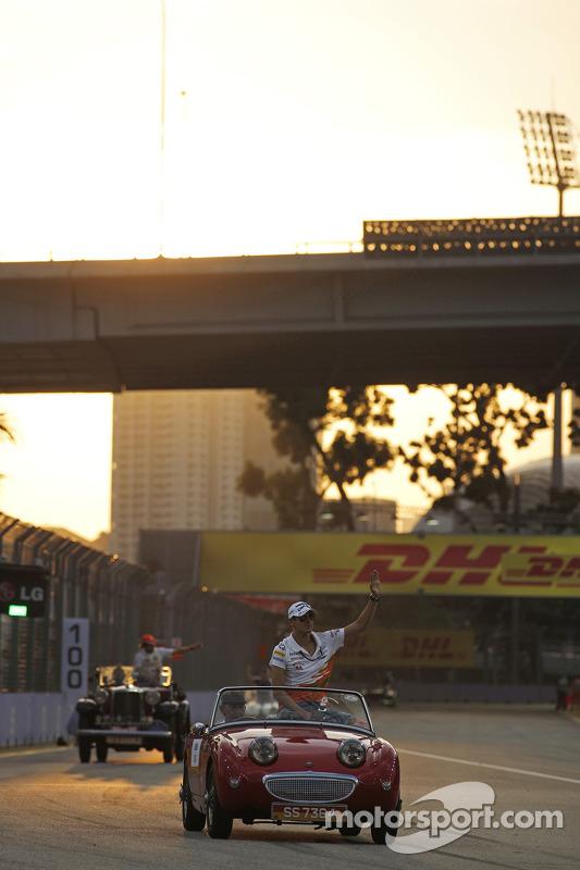 Adrian Sutil, Sahara Force India F1, no desfile de pilotos