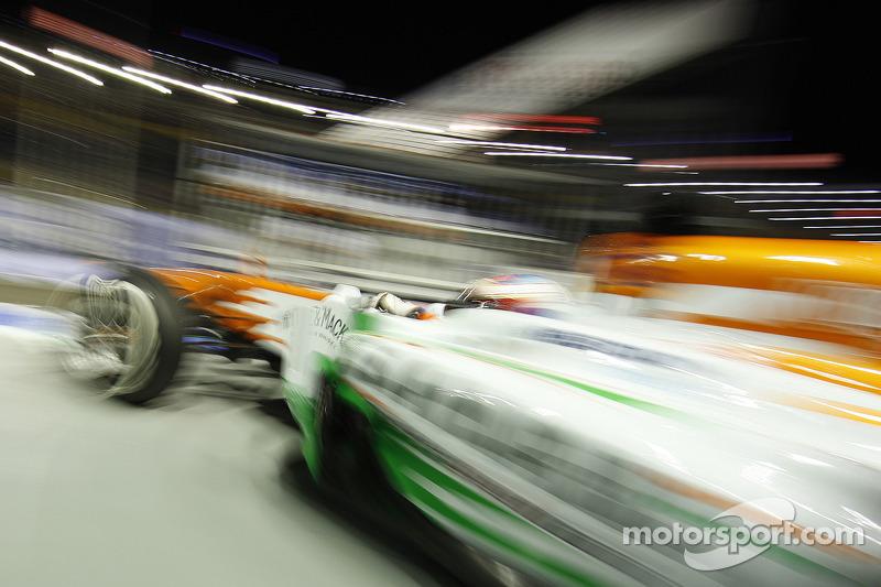 Paul di Resta, Sahara Force India VJM06 The podium (L to R):