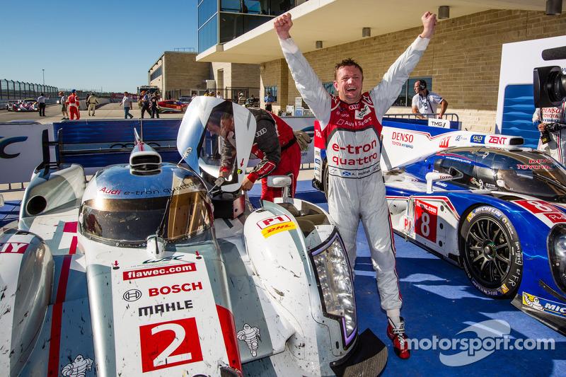 LMP1 and overall race winner Allan McNish celebrates