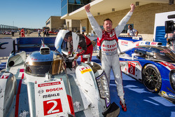 LMP1 and overall race winner Allan McNish celebrates