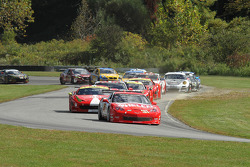 First lap- #31 Marsh Racing Corvette: Lawson Aschenbach, Eric Curran leads