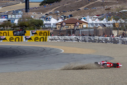 Niccolò Canepa loses control in the hairpin