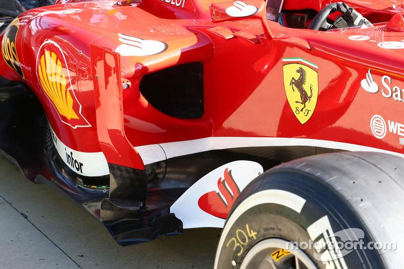 Ferrari F138 sidepod detail