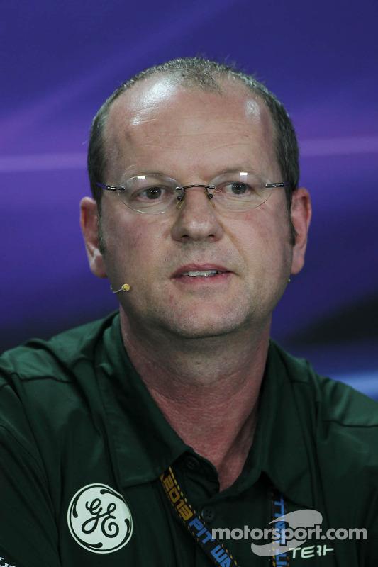 Graham Watson, Manager da Caterham F1 Team na Coletiva de Imprensa da FIA