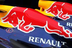 Red Bull Racing RB9s of Sebastian Vettel, Red Bull Racing and Mark Webber, Red Bull Racing