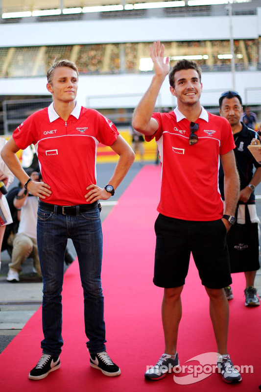 Max Chilton, Marussia F1 Team and Jules Bianchi, Marussia Formula One Team