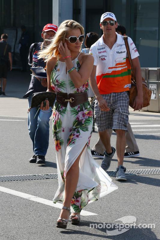 Jennifer Becks, com o namorado Adrian Sutil, Sahara Force India F1