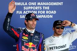 Ganador de la pole Mark Webber, tercero Lewis Hamilton
