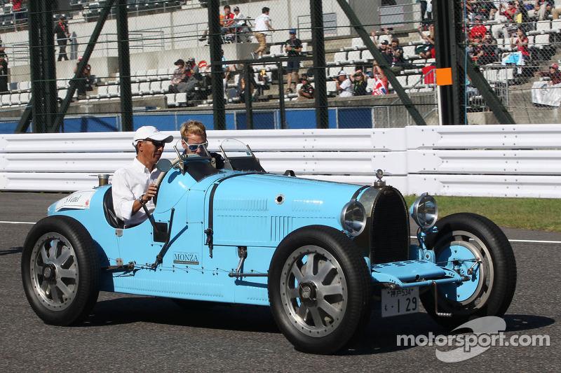 Sebastian Vettel, Red Bull Racing on the drivers parade
