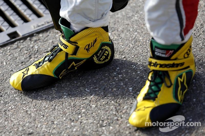 Champion shoes of Mike Rockenfeller, Audi Sport Team Phoenix Racing Audi A5 DTM