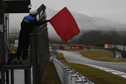 Red flag due to heavy rain