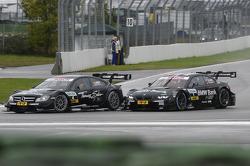 Roberto Merhi, Mercedes AMG DTM-Team HWA DTM Mercedes AMG C-Coupe, Bruno Spengler, BMW Team Schnitzer BMW M3 DTM
