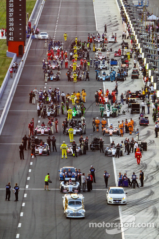 Grid voor de start van de race