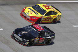 Michael McDowell and Joey Logano