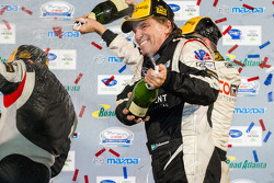 PC podium: champagne for Stefan Johansson