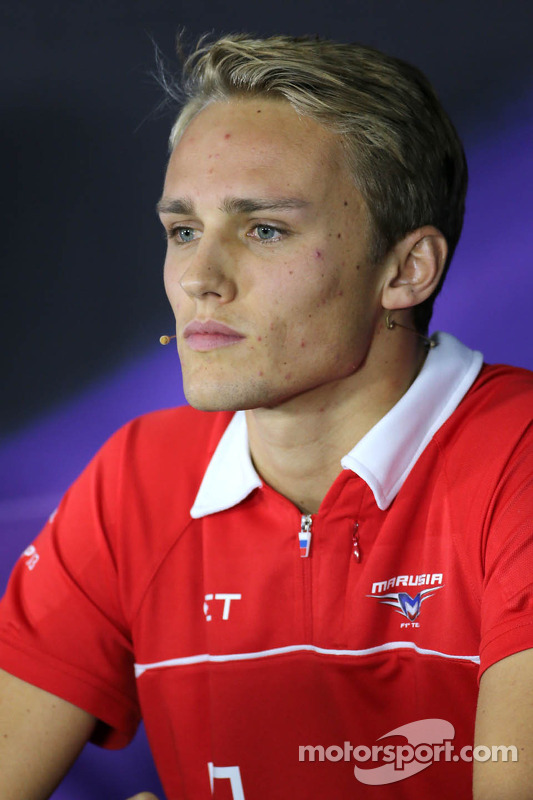 Press conference, Max Chilton, Marussia F1 Team