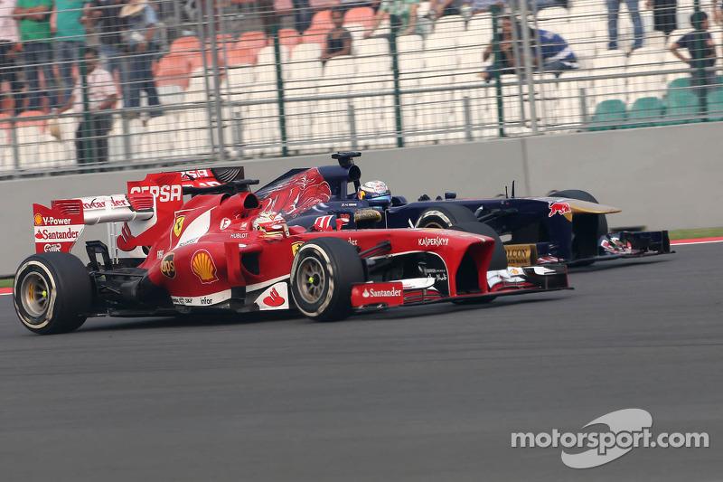Fernando Alonso, Scuderia Ferrari y Jean-Eric Vergne, Scuderia Toro Rosso