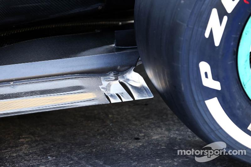 Mercedes AMG F1 W04 rear floor detail