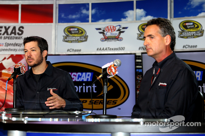 Martin Truex Jr. is announced as driver of the Furniture Row Racing Chevrolet for 2014