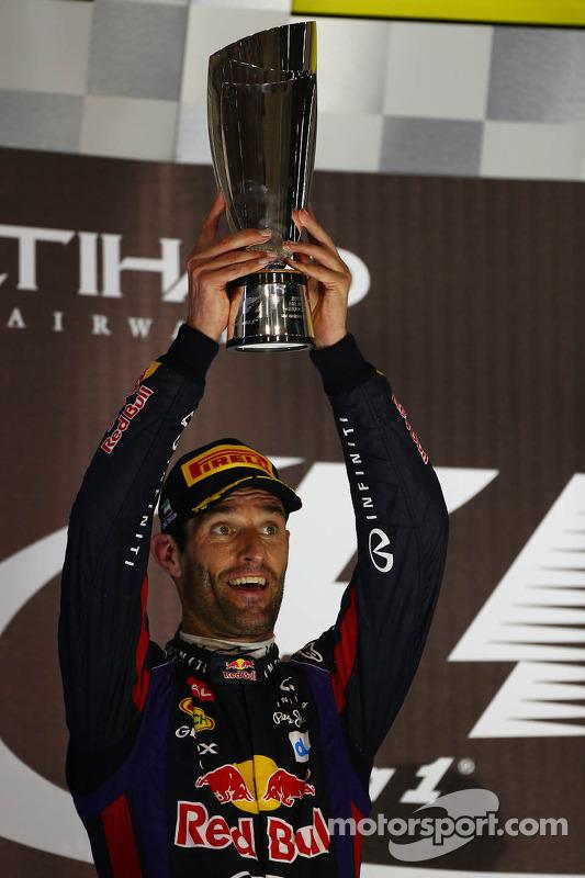 primeiro colocado Sebastian Vettel, Red Bull Racing, segundo colocado Mark Webber, Red Bull Racing