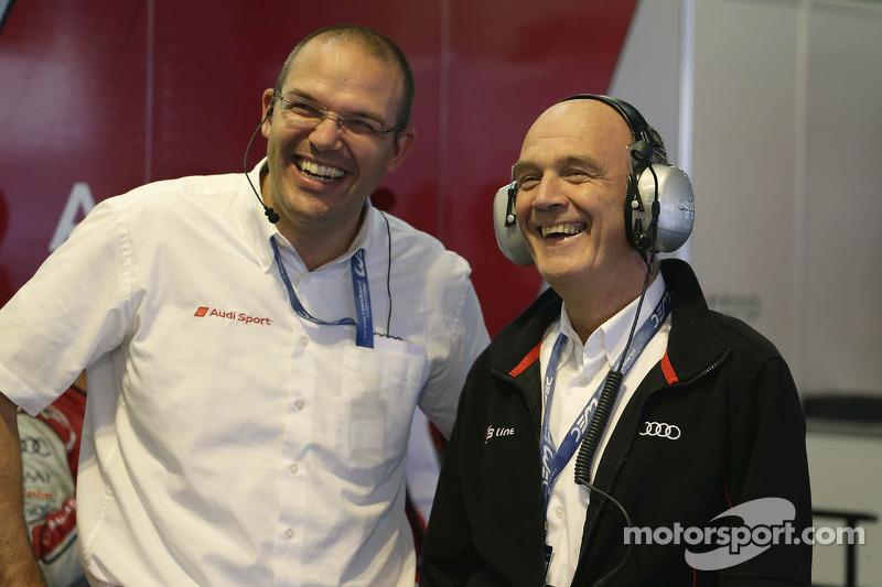 Chris Reike, hoofd van LMP1 Audi, en Dr. Wolfgang Ullrich, hoofd van Audi Motorsport
