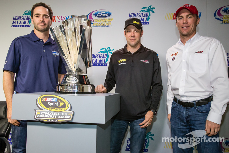 Persconferentie titelfavorieten: Jimmie Johnson, Hendrick Motorsports Chevrolet, Matt Kenseth, Joe G