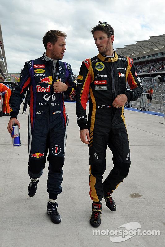 Sebastian Vettel e Romain Grosjean