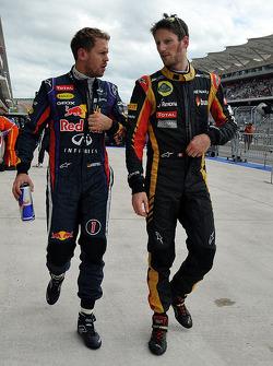 Sebastian Vettel and Romain Grosjean