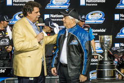 Championship victory lane: NASCAR Nationwide Series 2013 champion owner Roger Penske with Mike Helton
