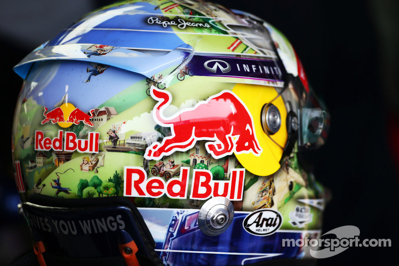 Le casque de Sebastian Vettel, Red Bull Racing